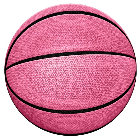 Digital illustration of a basketball. Stock Photo