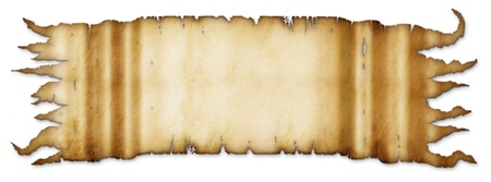 Illustration of an old parchment banner  illustration