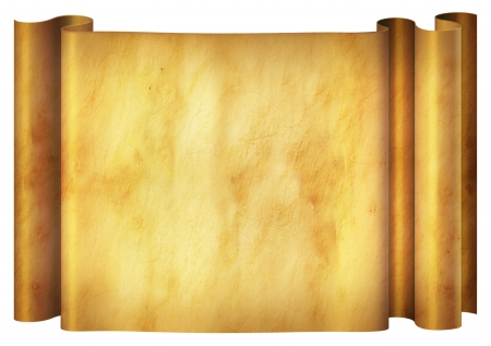Illustration of an old parchment banner  Stock Photo