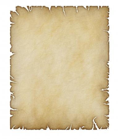昔のイラストと崩壊しつつある羊皮紙
