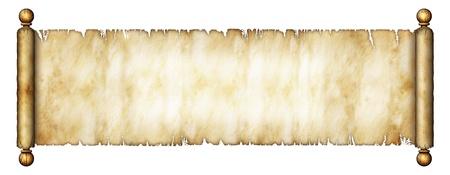 Illustration of an old scroll Banco de Imagens - 18081817