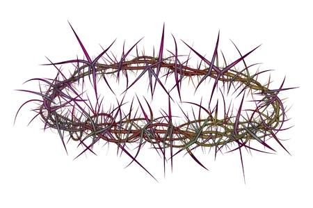 イエス ・ キリストの上に配置ようなイバラの冠の図