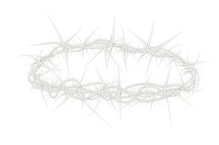 イエス ・ キリストにある 1 つのようなとげの王冠のイラスト 写真素材