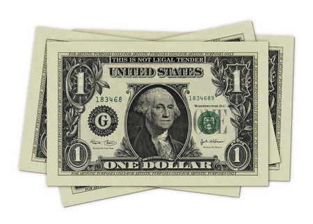 Photo Illustration of U.S. one dollar bills retouched and re-illustrated to create short dollar bills.