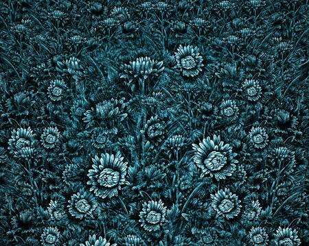 Digital composite using my pen and ink floral sketches. Reklamní fotografie