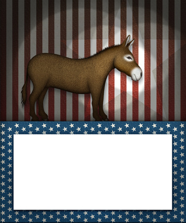 democrat party: Digital illustration of a donkey as the symbol of the democrat party.