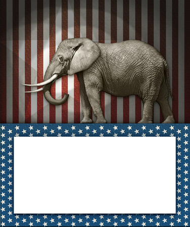 republican party: Photo illustration of an elephant;as the symbol of the republican party.