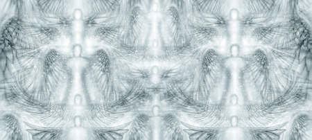 seraphim: Tileable, seamless, background pattern panel filled with angels and stars.