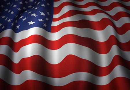 美国挥动的旗子的例证。
