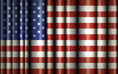 Illustration of the waving flag of the United States. Stock Photo