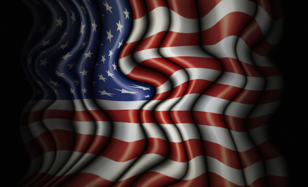 undulating: Convoluted and undulating flag of the United States. Stock Photo