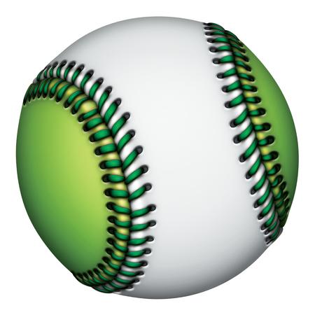 Illustration of a green and white baseball. Stock fotó