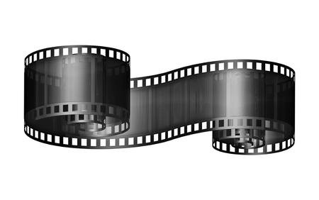 フィルム ストリップのセグメントのデジタル イラストです。