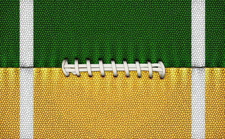 Digital Illustration of a football?s texture, laces, and stripes to use as a background for text or other graphics.