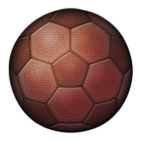 Illustration of a mix between a football and a soccer ball.