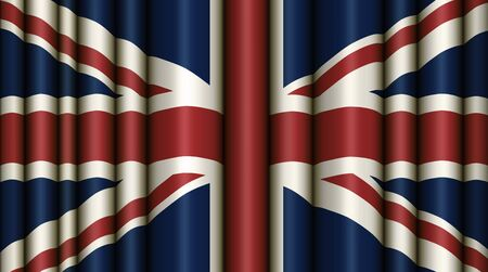 Digital Illustration of the British Flag with a full bleed.