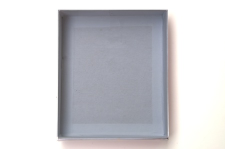 Grey box isolated on white background.  photo