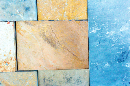 Stone wall texture background of natural multi-colored slates. Layers of color and texture of this stone or stone wall will provide the perfect background for your next project Reklamní fotografie