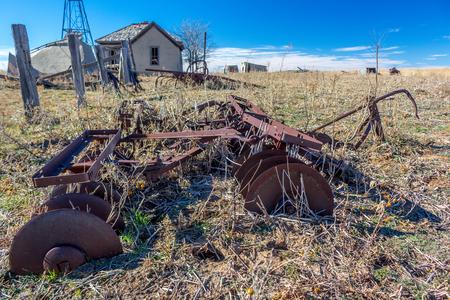 Dust bowl era abandoned farm in the Texas panhandle region. Imagens