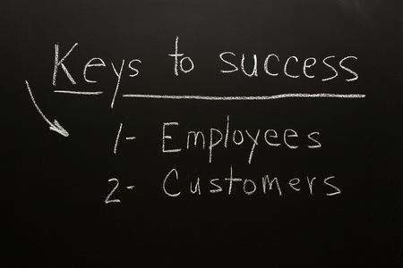 Customers & employees are the keys to business success Stock Photo - 5423681