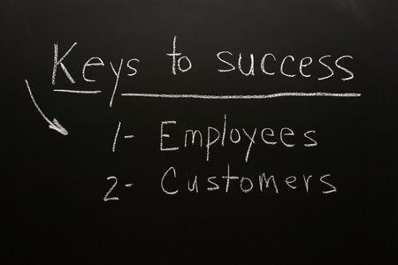 Kunden & Mitarbeiter sind der Schlüssel zum geschäftlichen Erfolg  Standard-Bild