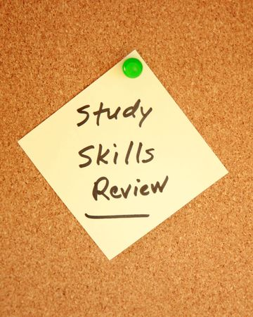 review: Study skills review notice Stock Photo