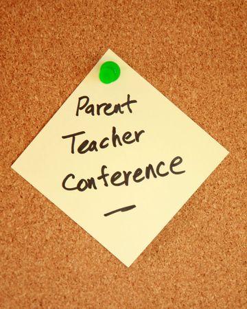 educadores: Notificaci�n de Conferencia de profesor primario  Foto de archivo