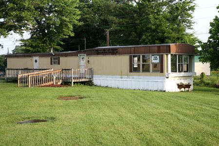Used mobile home with a