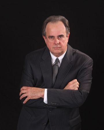 Geschäftsmann, Rechtsanwalt, Buchhalter oder ähnliche mit einem ernsthaften Ausdruck Standard-Bild