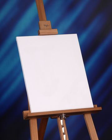 own: Create your own message or artwork on this canvas resting on an easel