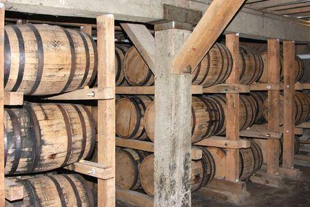 distillery: Whiskey or wine aging in barrels