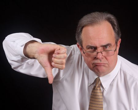 Verärgert Executive ist nicht beeindruckt