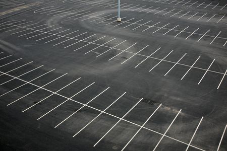 empty: Aerial view of an empty parking lot