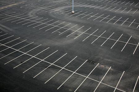 aerial: Veduta aerea di un parcheggio vuoto Archivio Fotografico