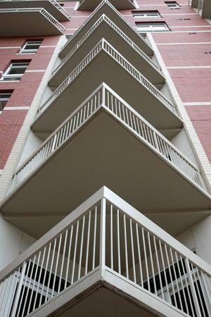 Abstract view of condominium balconies Stock Photo