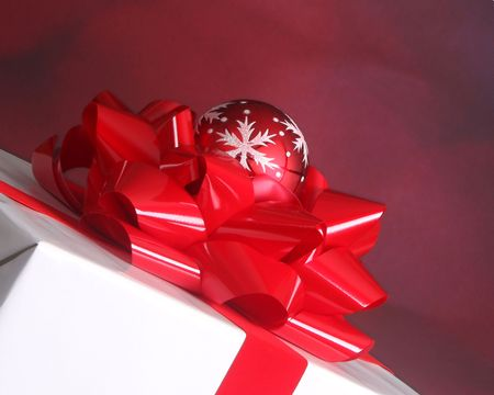Christmas bow and ornament photo