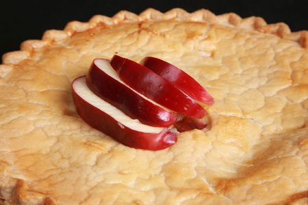 Closeup of a fresh apple pie photo