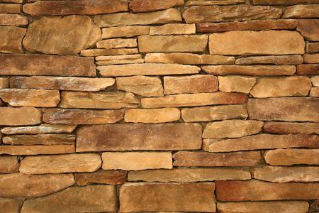Stacked stone wall photo