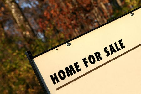 Real estate HOME FOR SALE sign Stock Photo - 5901453