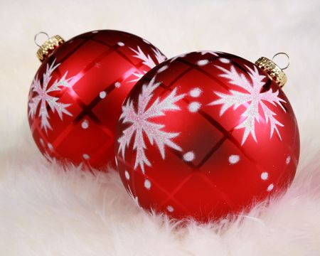 Close focus on Christmas ornaments in fur Stock Photo - 5919341