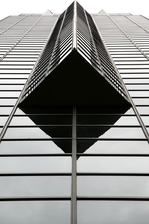 Symmetrical view of an office tower Stock Photo