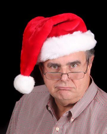 크리스마스를 고대하지 않는 꿀꺽 꿀꺽 삼키는 노인