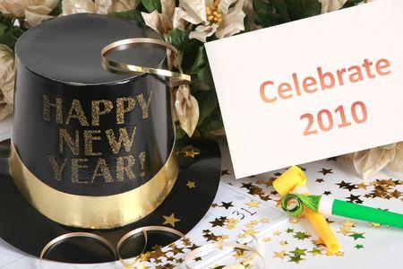 Vieren het nieuwe jaar Stockfoto