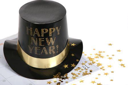 winter party: Felice anno nuovo con calendario evidenziando il 31 dicembre  Archivio Fotografico