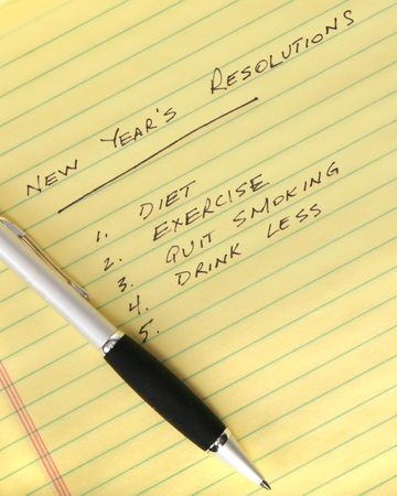 strive: New Years Resolutions Stock Photo