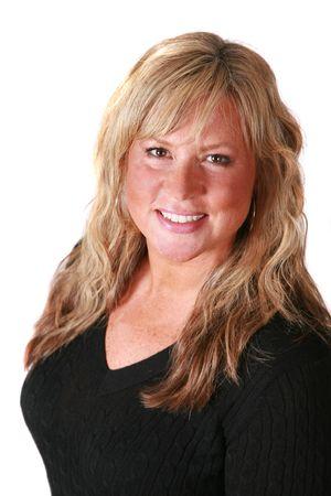 Attraktiv Business Woman isolated on white Standard-Bild - 6147089
