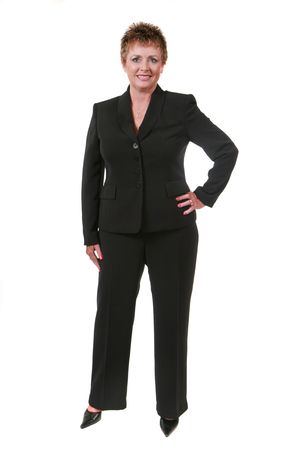 Business woman isolated on white photo