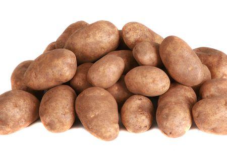 Kartoffeln, die isoliert auf weißem Hintergrund  Standard-Bild - 6161049