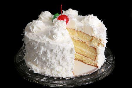 trozo de pastel: Pastel de coco  Foto de archivo