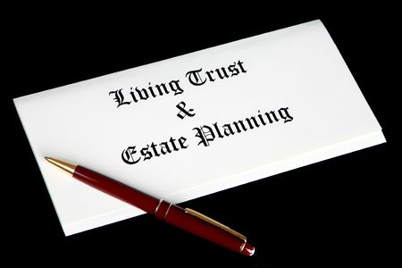 legal document: Estate planning documents Stock Photo